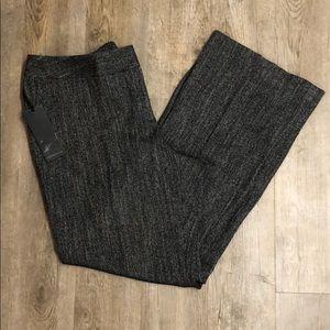 Semantiks Tweed flat front trousers
